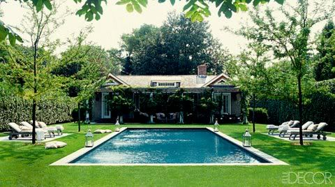 Classic hampton garden hampton pool swimming pool for Pool design hamptons