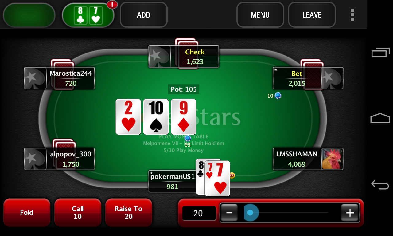 Play free poker games online.