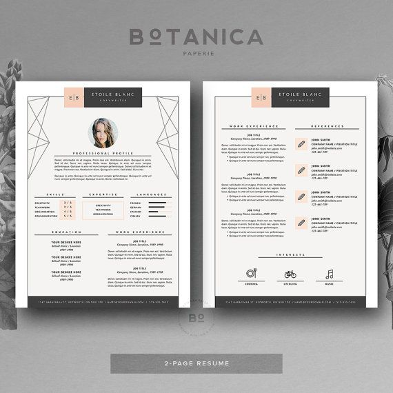 CV Design   Resume Template for MS Word and iWork Pages by - iwork resume template