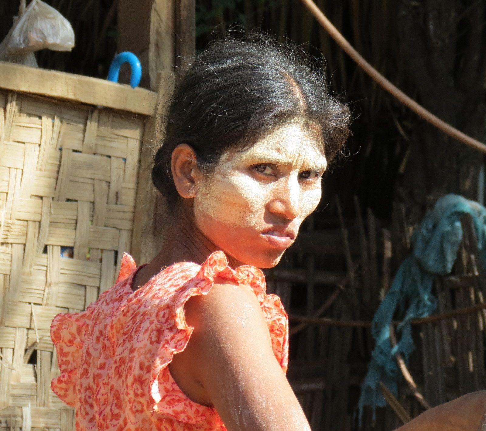Burmese woman looking back #burma #myanmar #travel #travelphotography