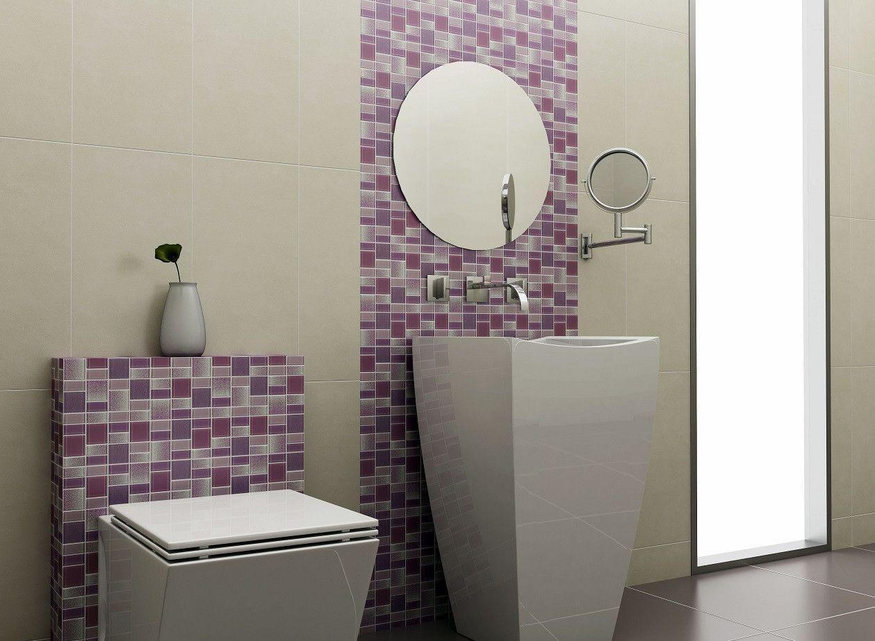 Fusion Purple Gl Mosaic Tiles