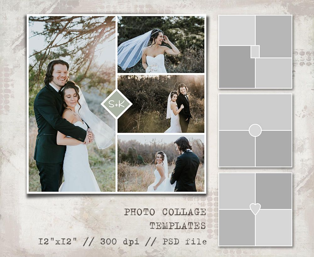 Storyboard Templates 12x12 Photo Book Photo Collage Etsy Photo Collage Template Photo Book Photographer Templates