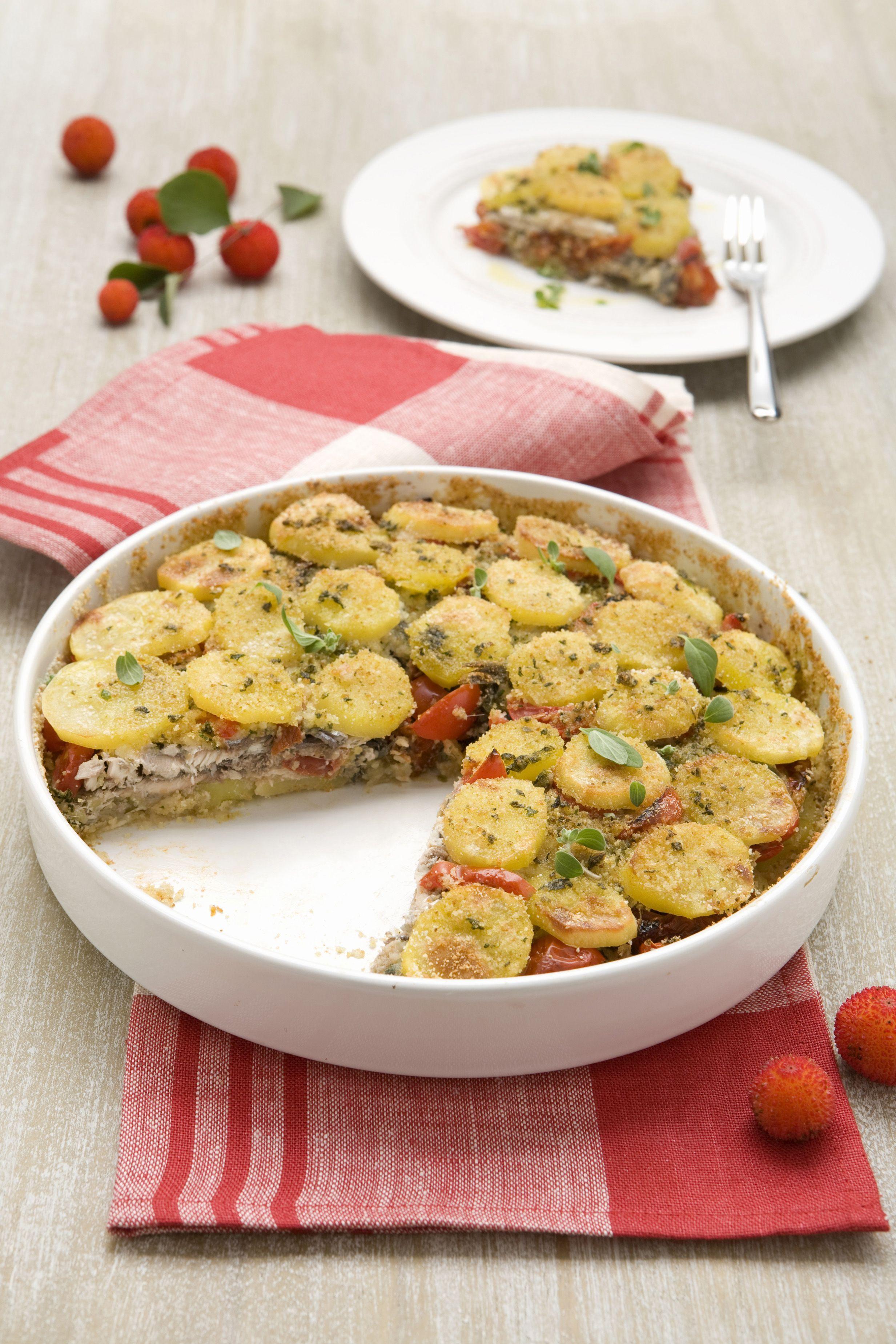 Tortino di patate e acciughe - Scuola di cucina - Donna ...
