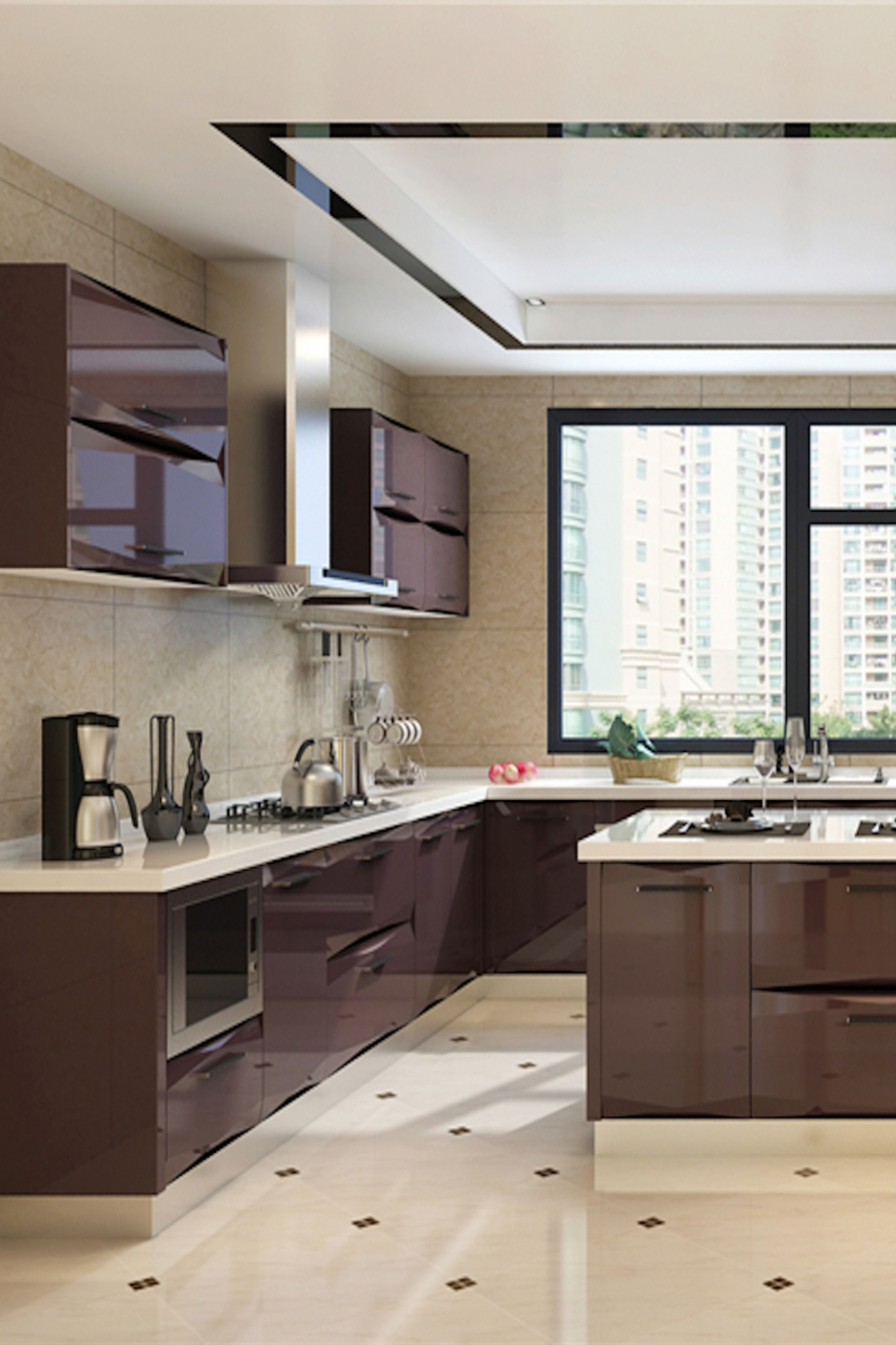 Lacquer Kitchen Cabinet | Kitchen cabinet design, Elegant ...