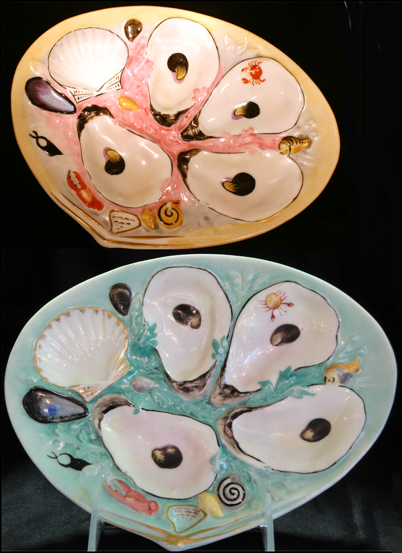Antique Oyster Plates & Antique Oyster Plates | Ceramics + Pottery + Glass + Porcelain ...