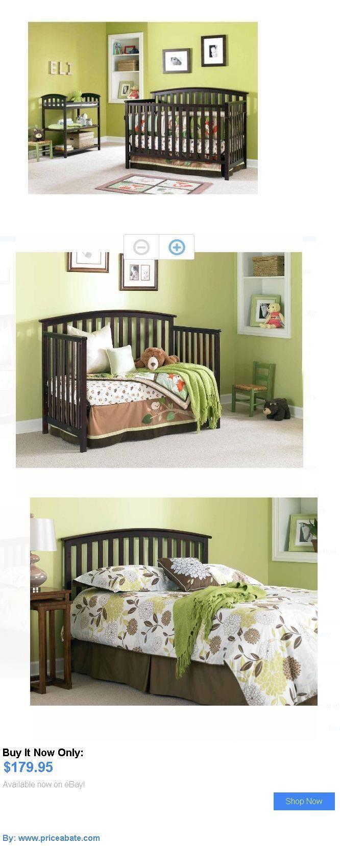 Baby Nursery: Baby Cribs And Furniture 4 In 1 Convertible Espresso Toddler Bed Nursery Child BUY IT NOW ONLY: $179.95 #priceabateBabyNursery OR #priceabate