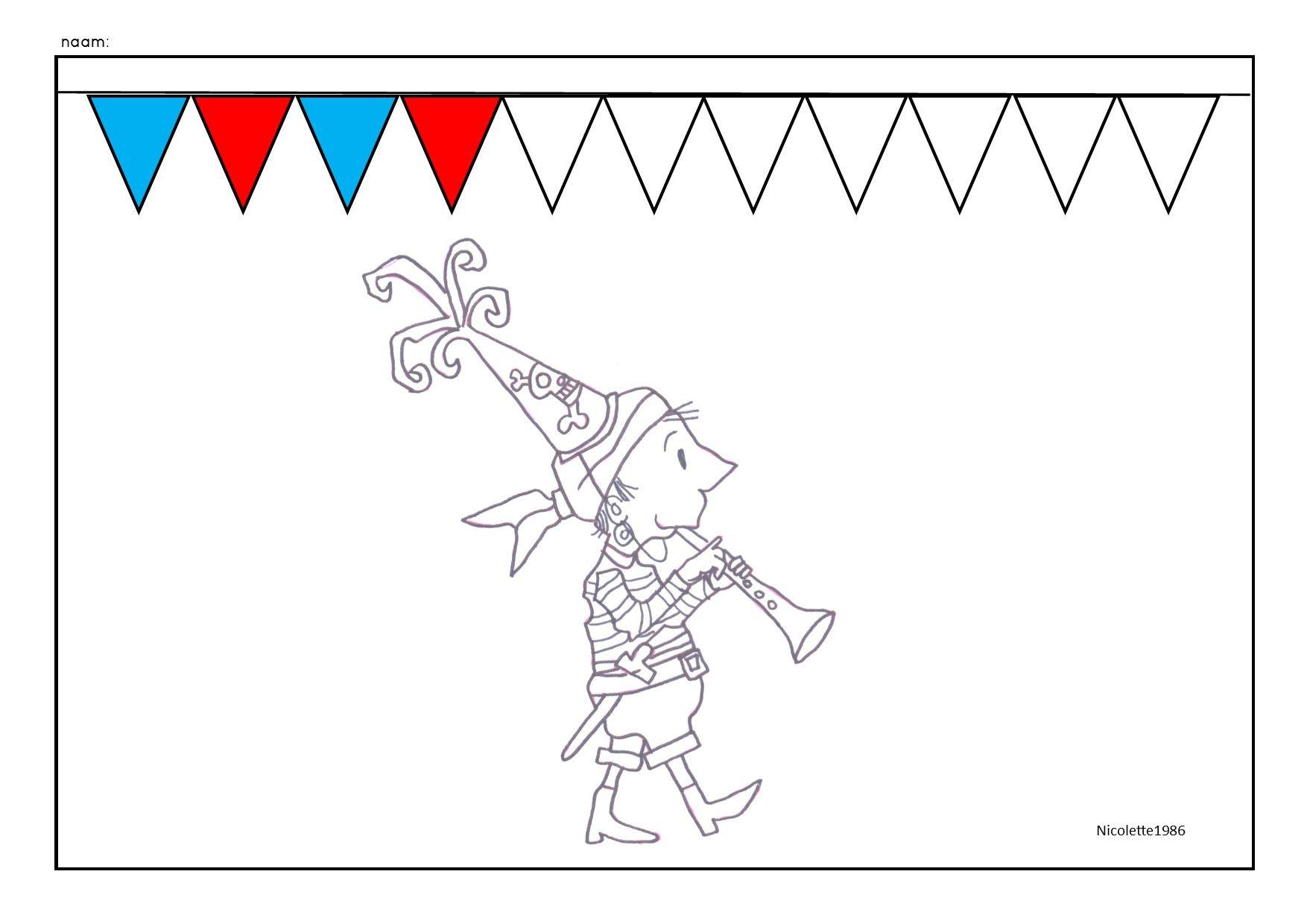 Aadje Piraatje Viert Feest Logische Reeks Kleuren Thema