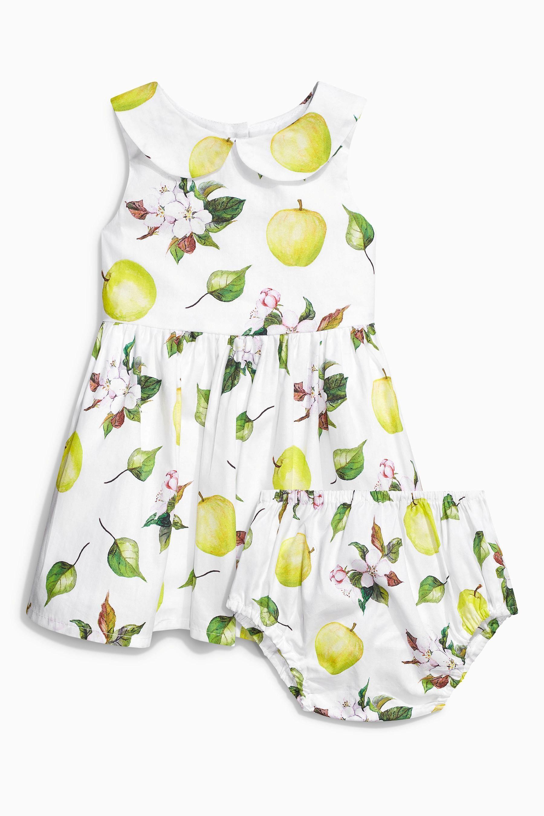 Kaufen Sie Multi Apple Print Prom Dress And Matching Knicker Set (0 Monate – 2 Jahre) heute online bei Next: Deutschland