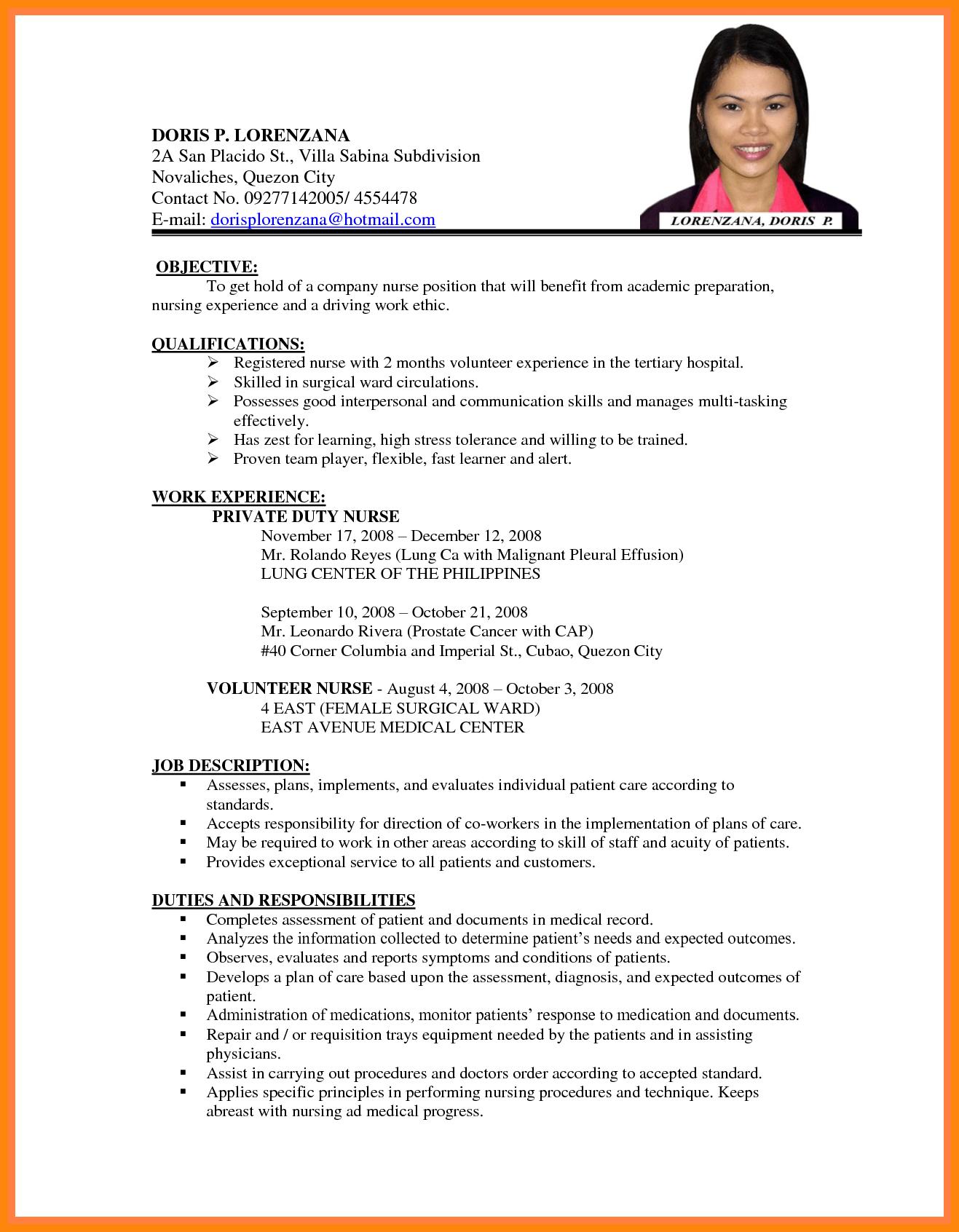 Resume For Job Application Sample Cv Job Application Example Sample Cv For Job Application Best Cv For .