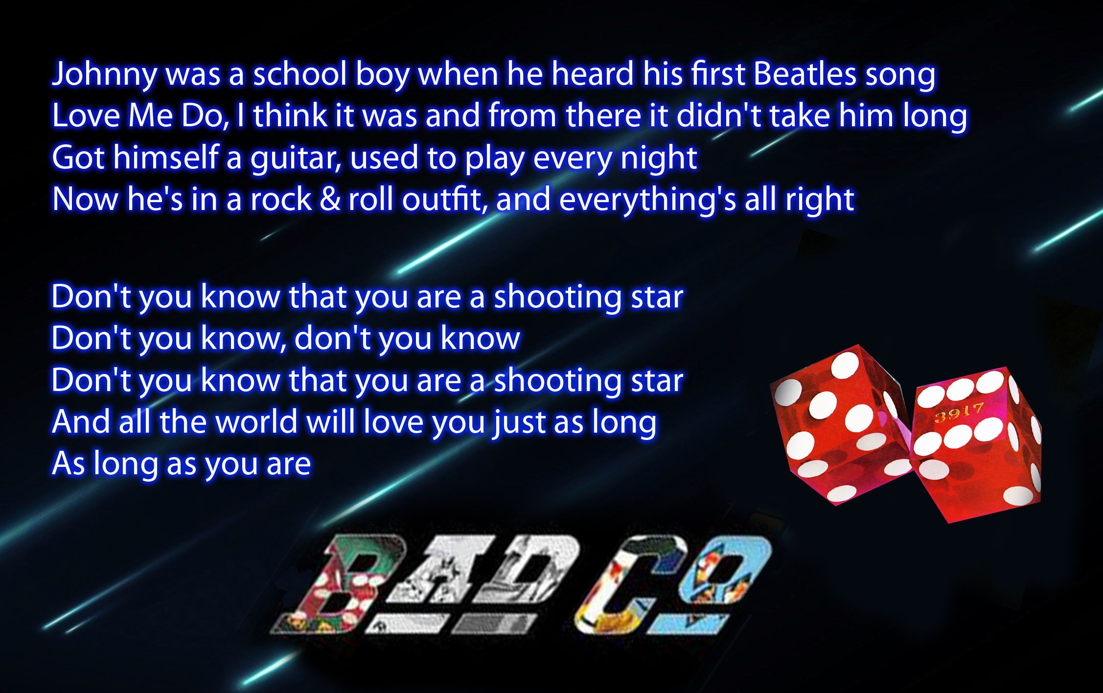 Shooting Star Straight Shooter Bad Company Beatles Songs