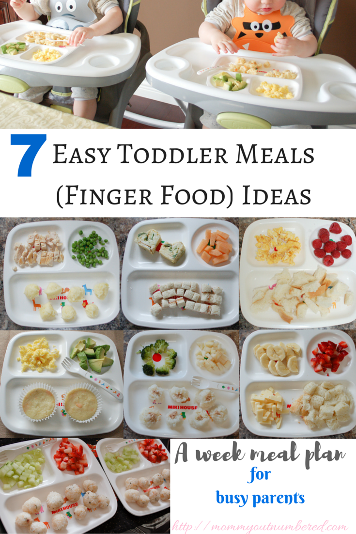 7 Toddler Meal / Baby Finger Food Ideas Baby food