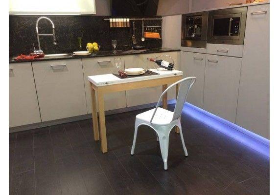 Una mesa de cocina pequeña nordica que se amolda a tus medidas ...