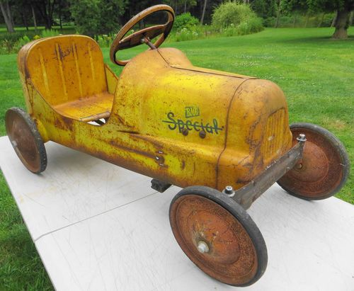 Exceptional 1950's BMC Racer Pressed Steel Pedal Car Nice | eBay
