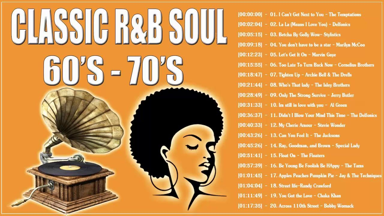 The Best Soul R B Songs Of The 60s 70s Classic R B Soul From