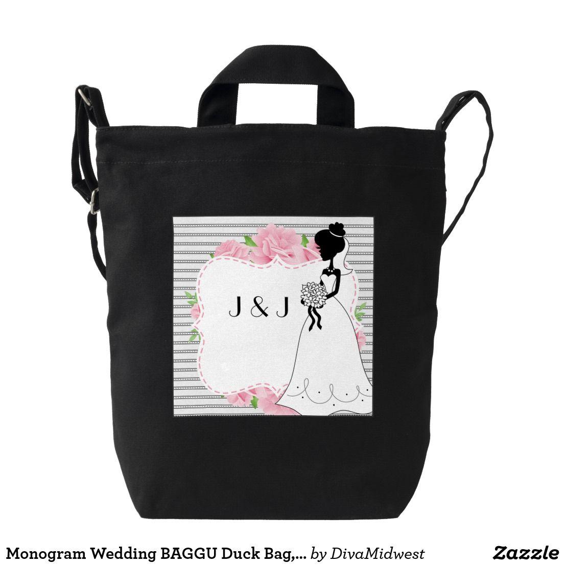 Monogram Wedding Baggu Duck Bag Black