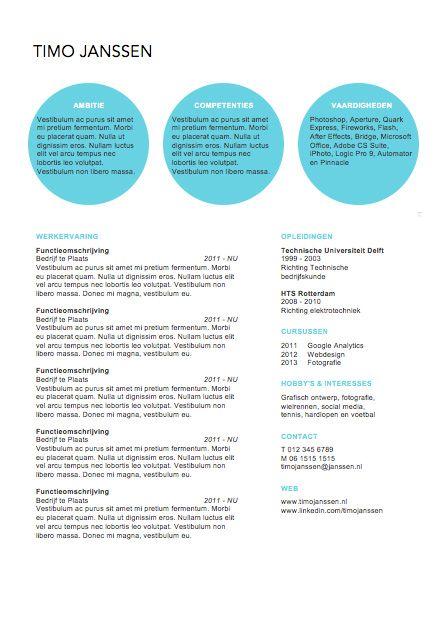 Origineel cv | Curriculum Vitae Creative | Pinterest | Personal