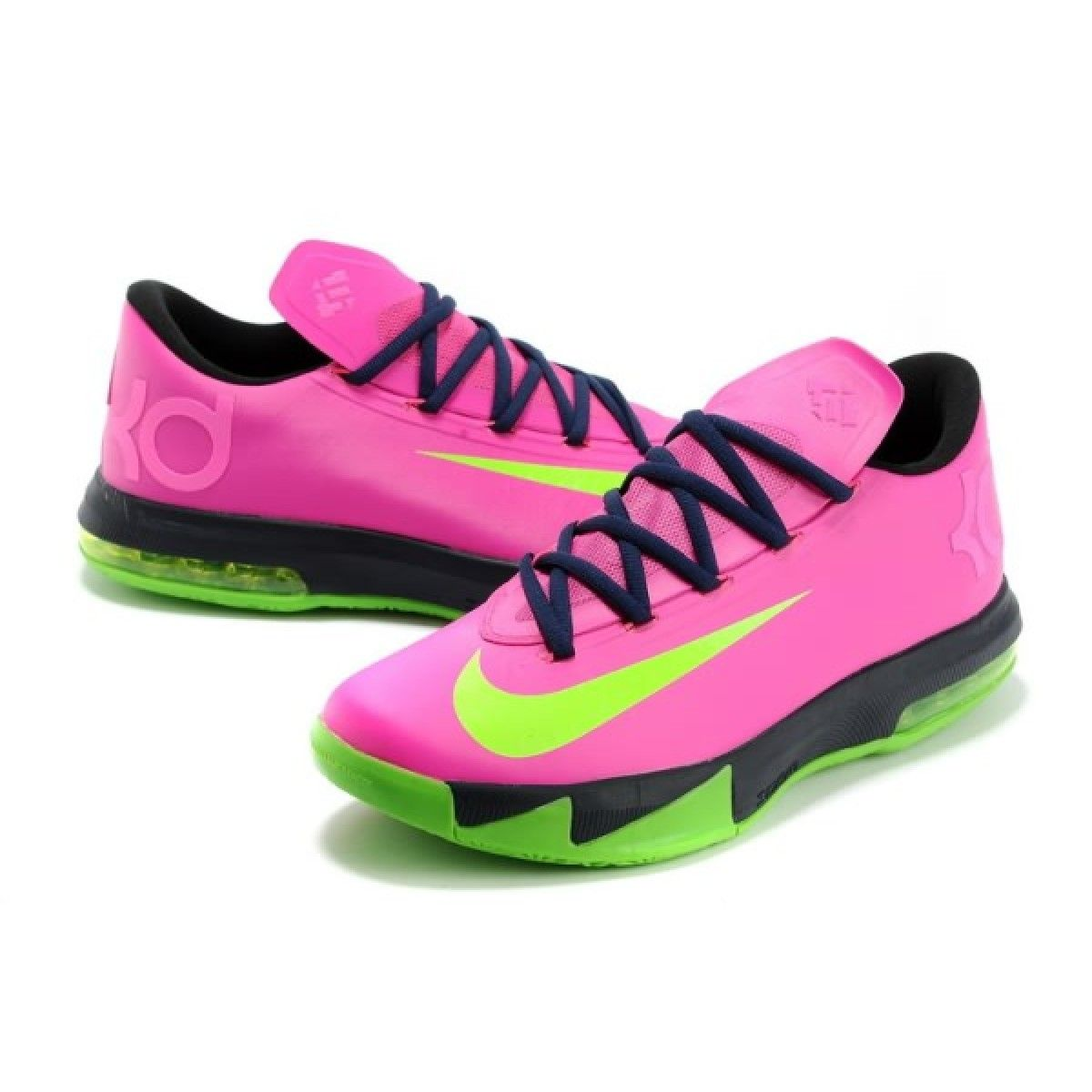 new style 5f757 61084 Nike Zoom Kevin Durant s KD VI N7 Pink Black Green Basketball ...    Projects to Try   Pinterest   Nike zoom, Pink black and Nike shoe