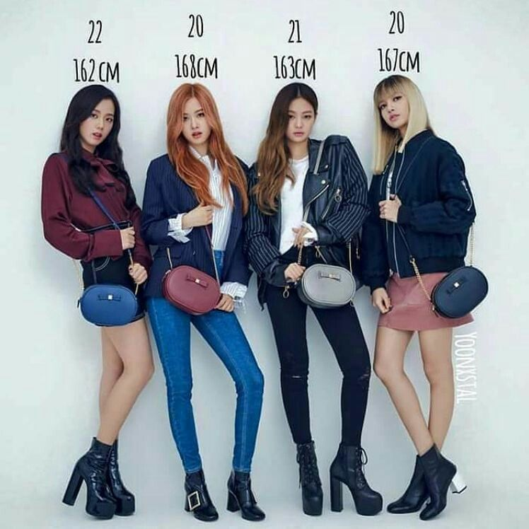 Their Age And Height But Lisa S Height Is 170cm Blackpink Fashion Blackpink Photos Kpop Fashion Outfits