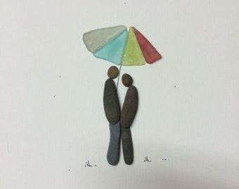 Couple under the umbrella