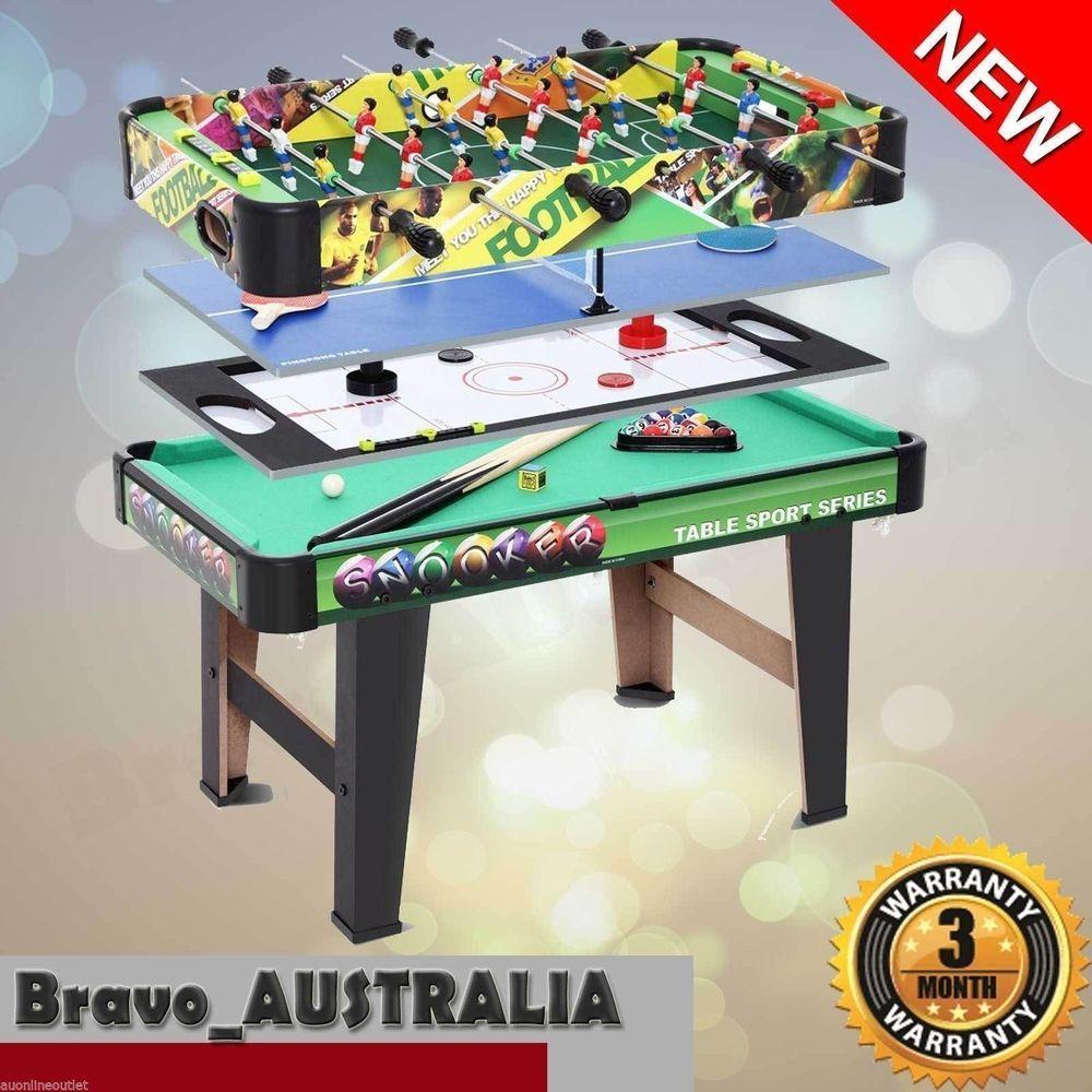 New 4 In 1 Table Tennis Hockey Pool Foosball Table Soccer Games Hockey Pool Soccer Table Table Tennis