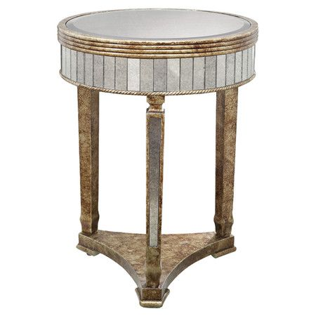 Found It At Wayfair Glamour Mirrored End Table In Gold Old - Wayfair mirrored side table