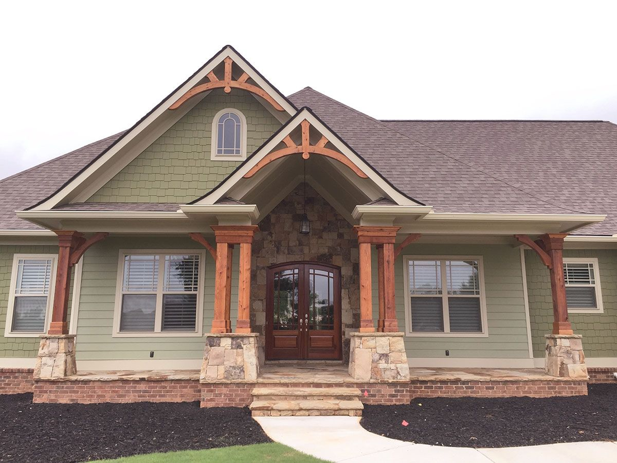 Plan 24364tw top of the line craftsman house plan in 2019 - How much paint for 1800 sq ft exterior ...