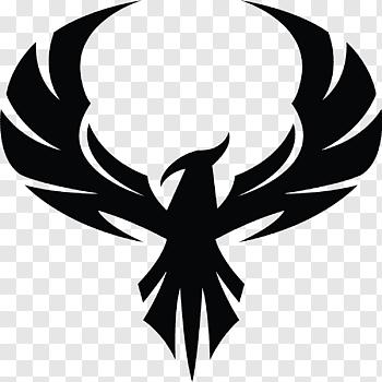 Black Bird Illustration Phoenix Decal Symbol Sticker Phoenix Free Png Art Logo Bird Illustration Eagle Images