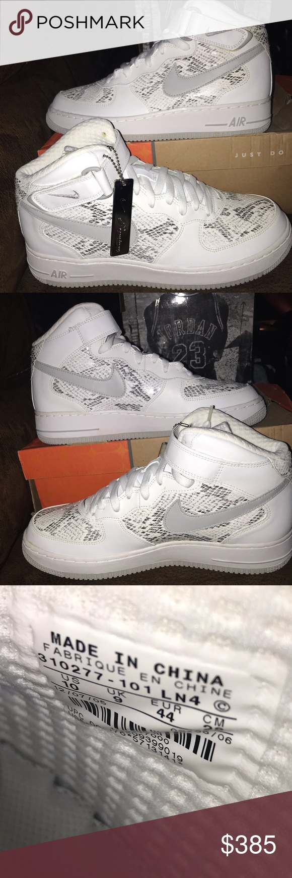 AIR FORCE 1 MID PREMIUM 310277 101 Cocoa Snake DS