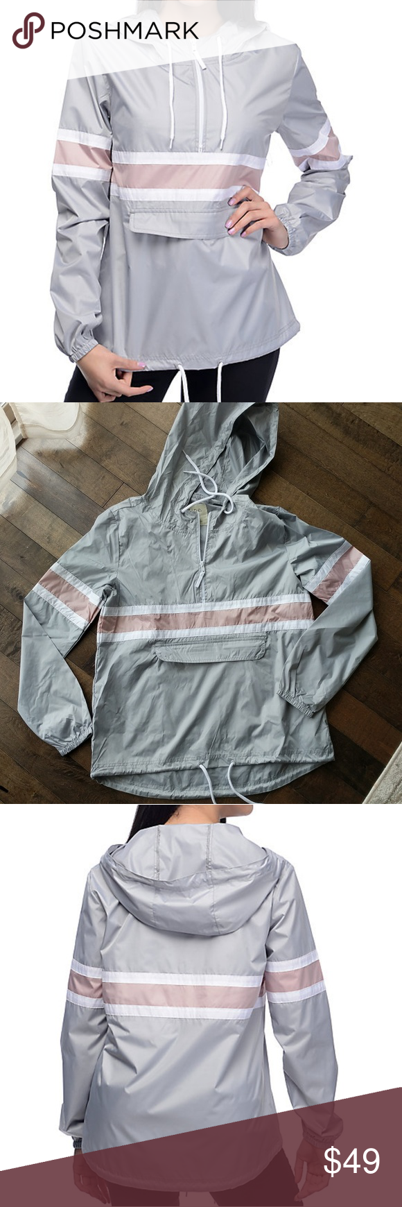 Packable windbreaker Keep the Shiloh light grey and mauve ...