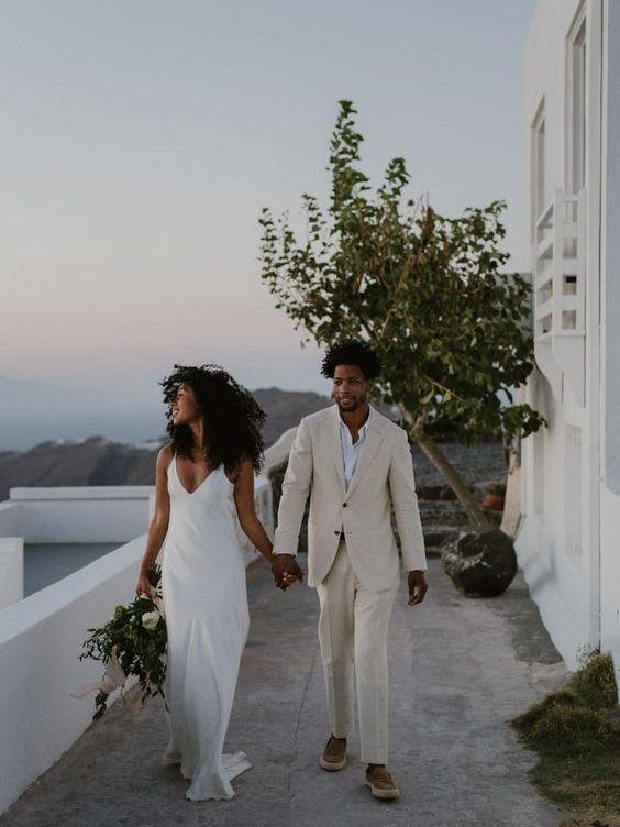 Silk simple slip dress for your important day wedding #bride #bridaldress #wedding