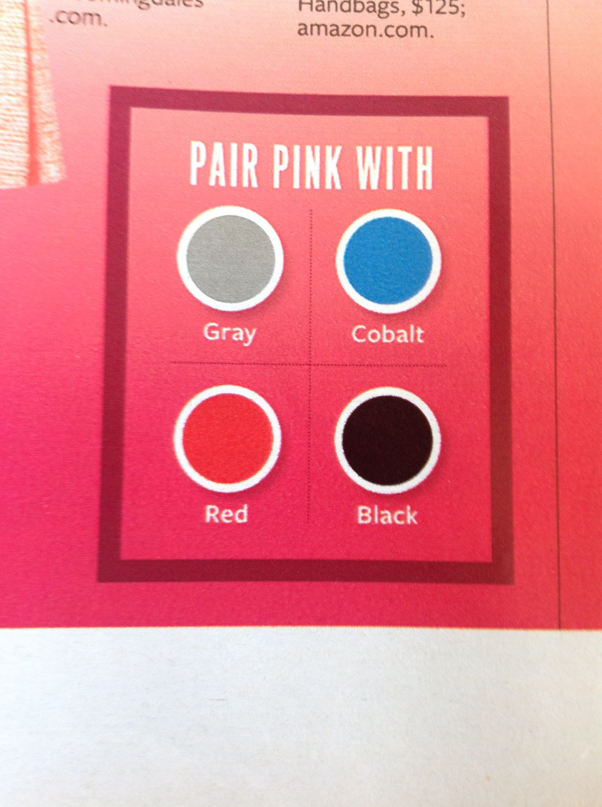 InStyle/The Color Issue: Pink