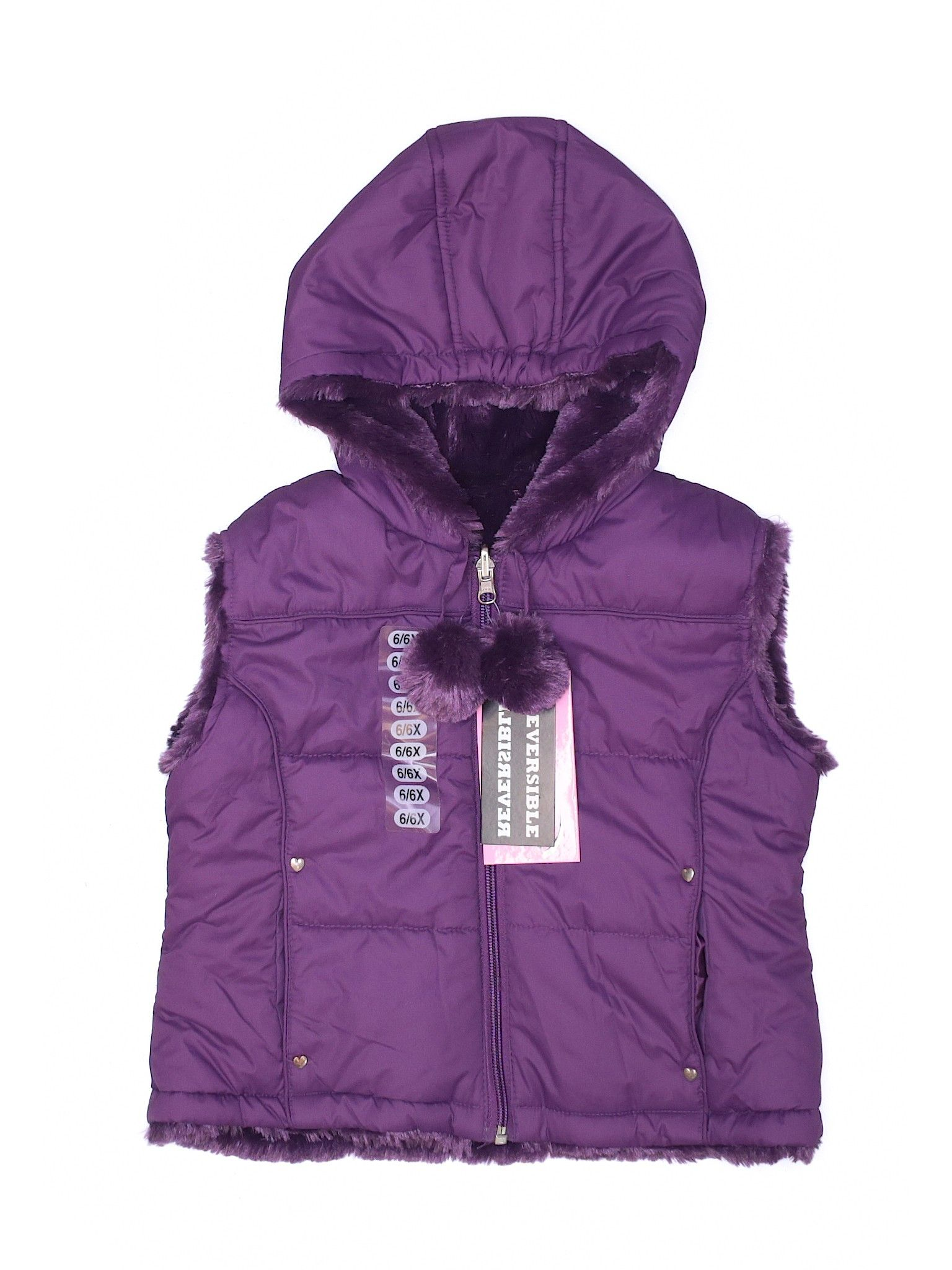 Kc Collections Vest 6x Purple Girl S Jackets Outerwear Outerwear Jackets Second Hand Clothes Girls Jacket
