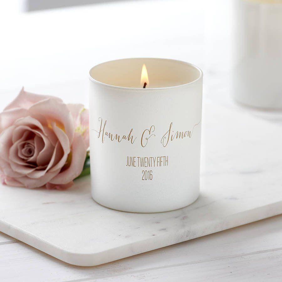 Personalised Glow Through Wedding Candle Candles Custom Etsy Personalized Candles Wedding Candles Personalised Wedding Candles