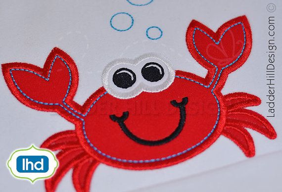 Hey, I found this really awesome Etsy listing at https://www.etsy.com/listing/230121076/crab-applique-pinch-me-im-cute-crab