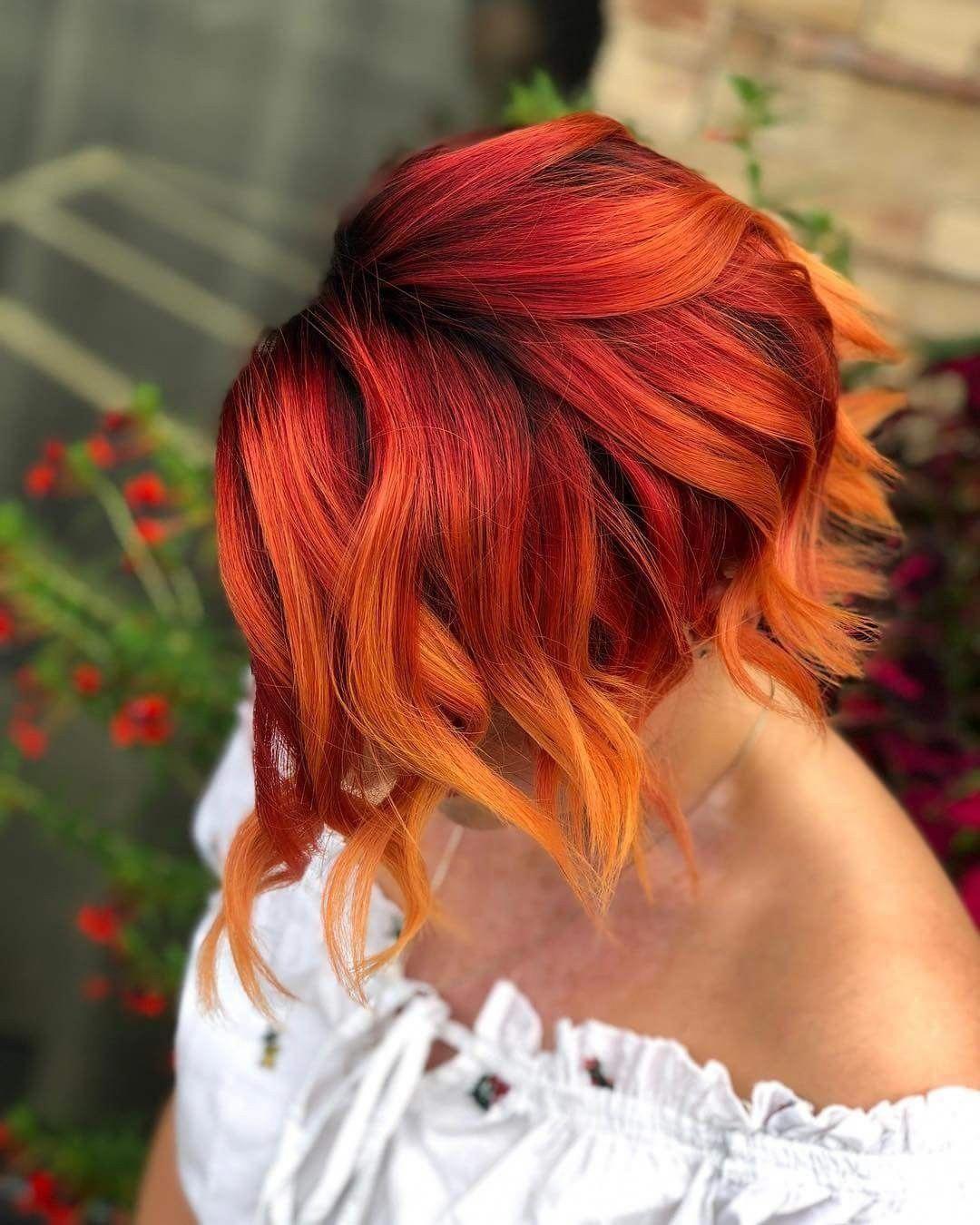 Sunset hair color. Paul Mitchell Pop. EyeMakeupBronze