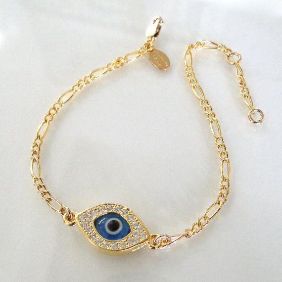 Lucky Evil Eye Bracelet As Seen On Kim by classicdesigns on Etsy