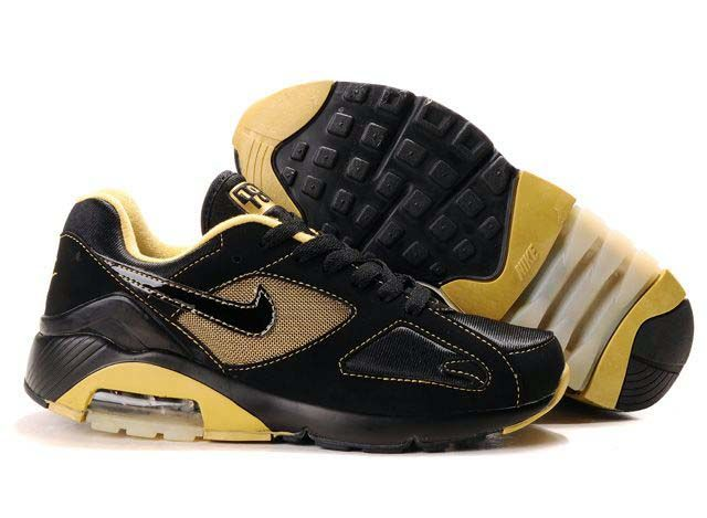 sports shoes 9e712 0650d Danmark Billige Nike Air Max 180 Trainers Mænd - Black RedGold