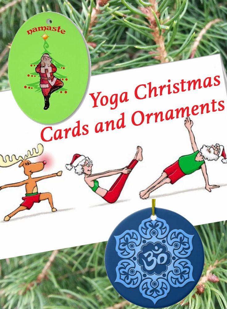 yoga christmas cards and ornaments  yoga christmas