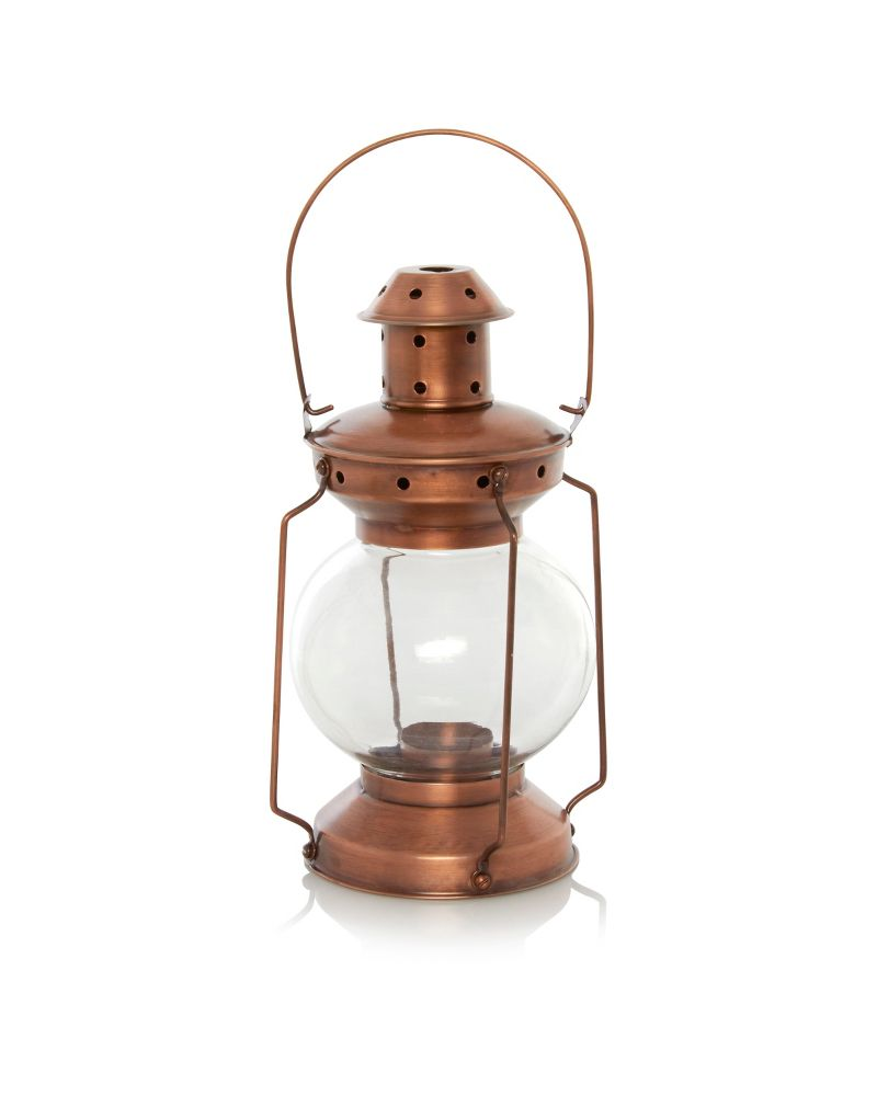george home copper lantern candles holders asda direct