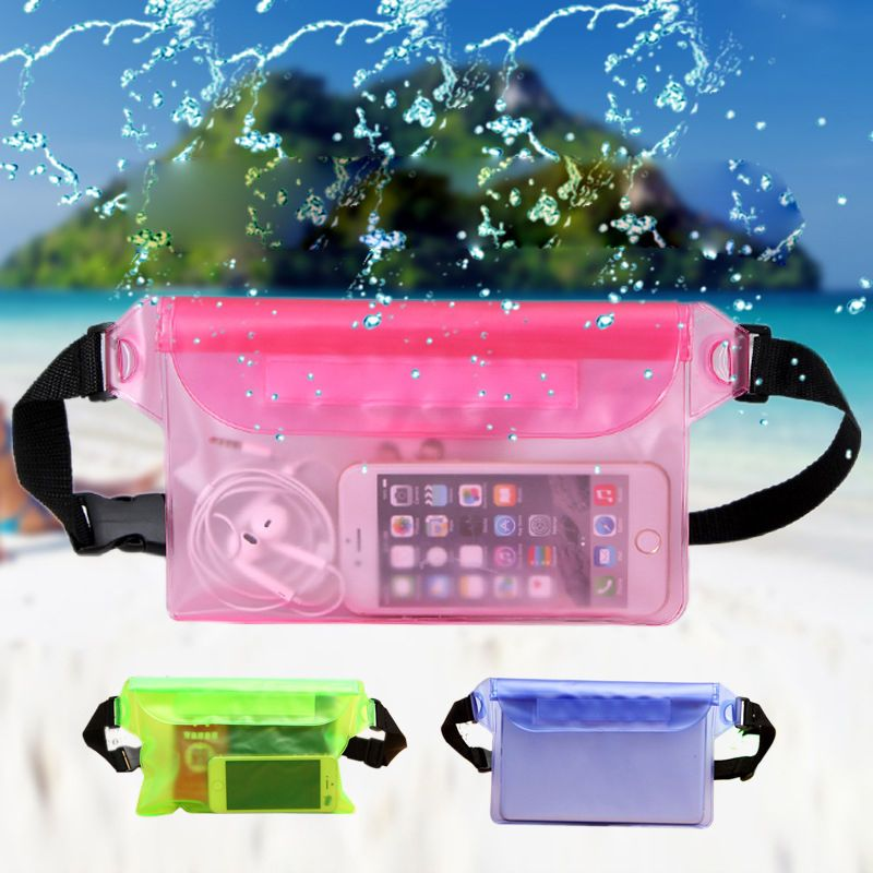 Waterproof Waist Bag Sport Swimming Beach Pouch Dry Case Pack Pocket Wallet