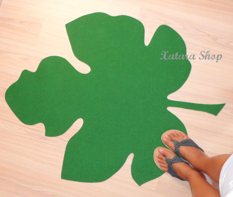 Fig leaf silhouette rug modern carpet custom shape lightweight home mat shaped leaf design - Alfombras contemporaneas ...