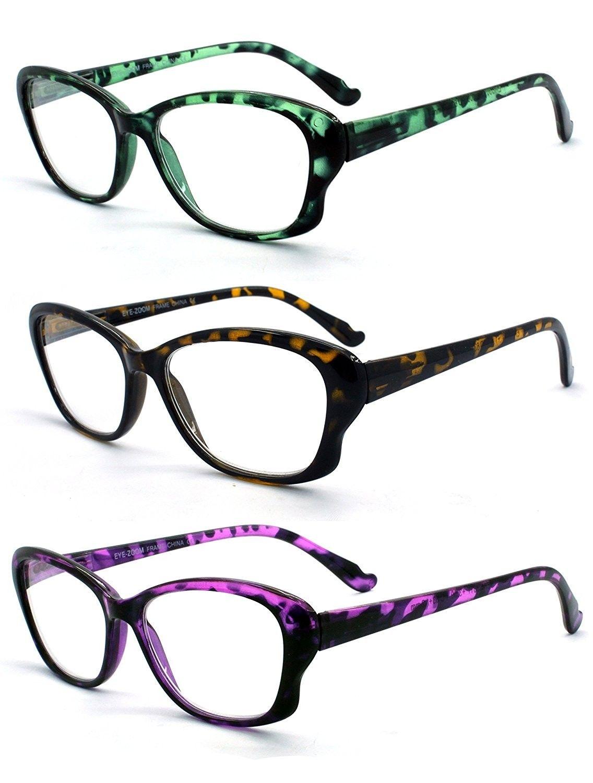 Eye Zoom Tortoise Reading Glasses Strength 3 Pack