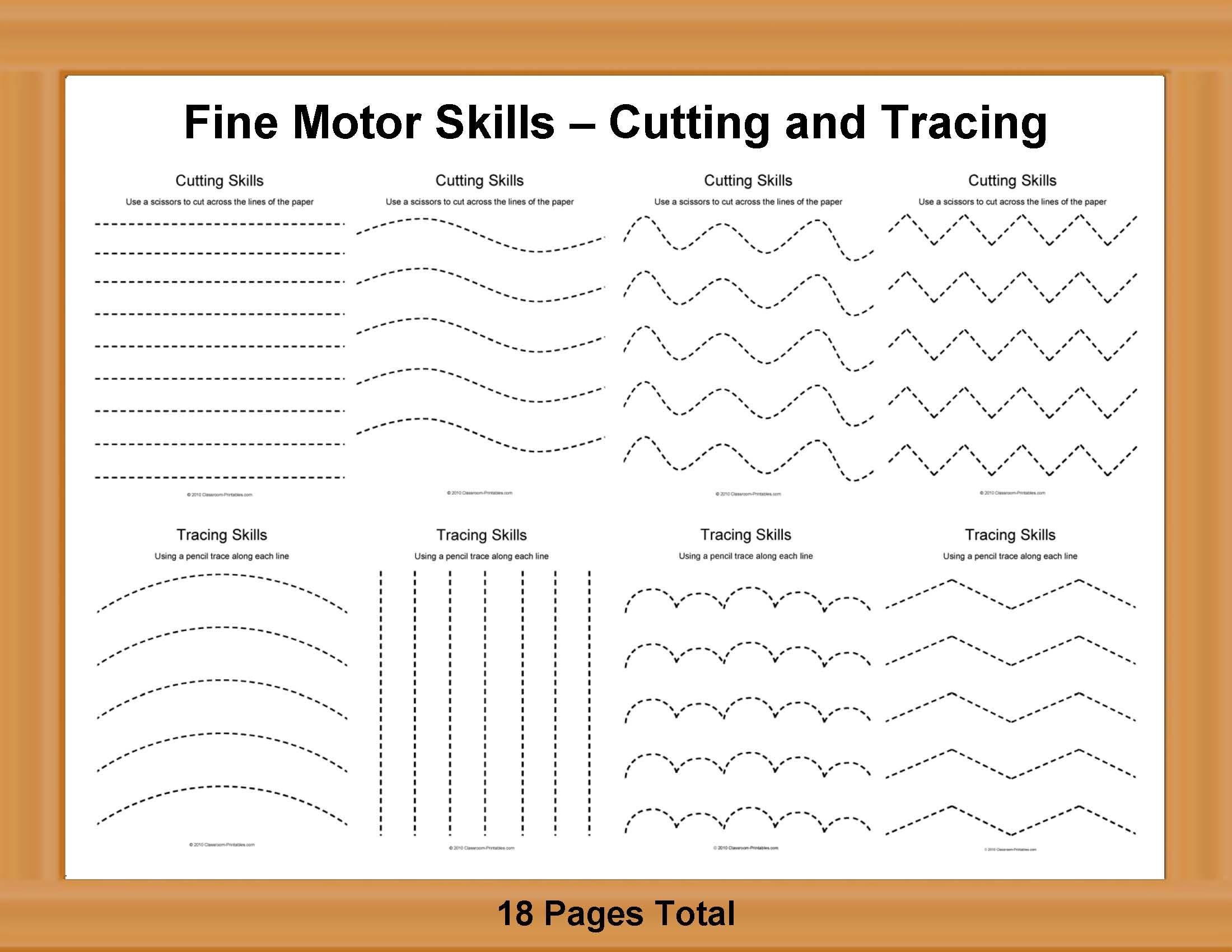 Fine Motor Skills Cutting And Tracing Cakepins