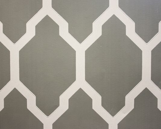 Tessella Wallpaper A Large Bold Geometric Repeat Design In Dark Grey And White