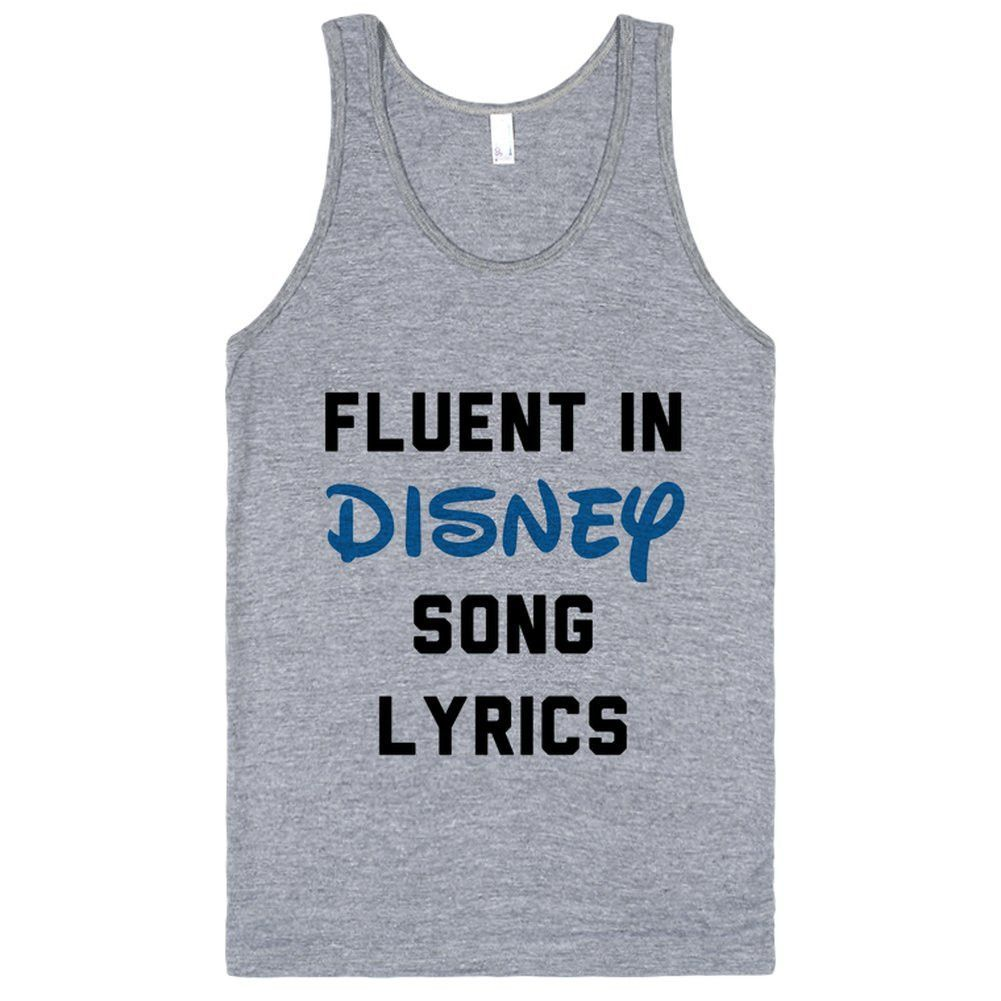 Fluent In Disney Song Lyrics   Disney, At the top and Frozen songs