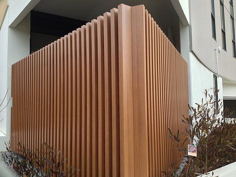 Vertical Timber Slatted Screen Google Search Dubbo Cc