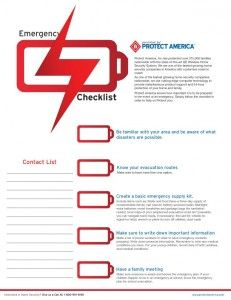Home Emergency Checklist Visit The Site To Print Pdf Homesecurity Security Protectamerica America Usa