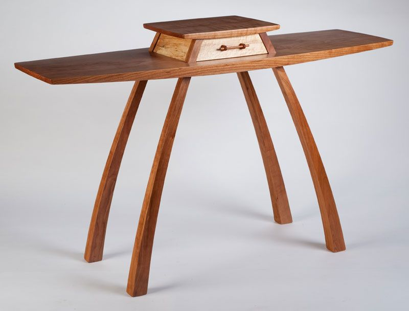 Hall Table By Steven M. White. Cherry, Maple