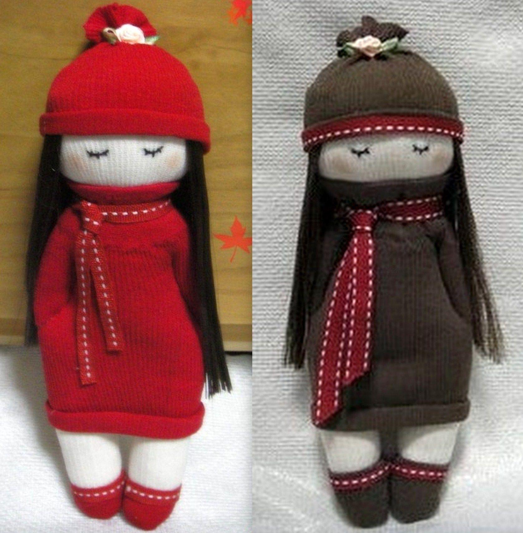 Super Faire une poupée mitaine ou poupée chaussette | Projets à essayer  CJ13