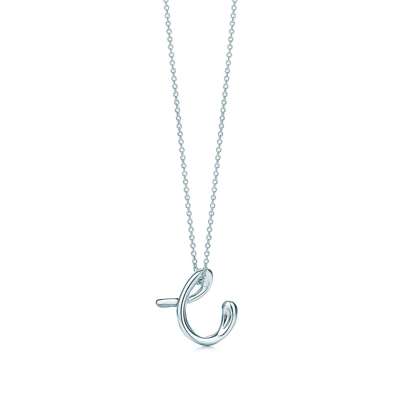a0f959257 Elsa Peretti® letter pendant. Sterling silver, small. Letters A-Z available.